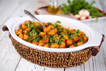 Turkish foods; bulgur garlic meatball (Sarimsakli bulgur kofte)