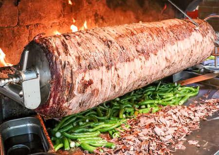 Traditional delicious Turkish foods; Doner kebab, cag kebab Reklamní fotografie