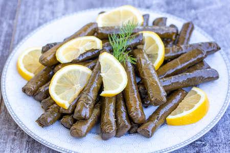 Turkish foods stuffed leaves
