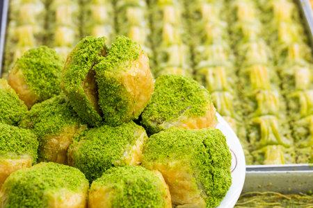 Traditional Turkish desserts various; Delicious dessert Baklava