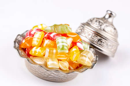 Traditional Turkish Ramadan Sweet Sugar Candy - Akide Sekeri Stock Photo