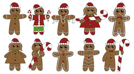 Cinnamon gingerbread man, Christmas cookies.