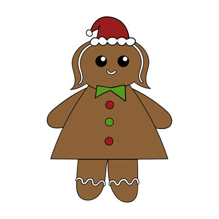 Cinnamon gingerbread woman, Christmas cookies.
