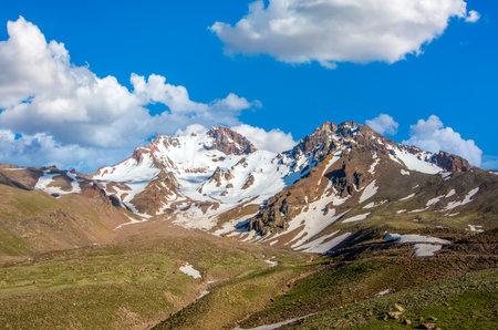 Travel concept photo; Turkey Kayseri Erciyes Mountain