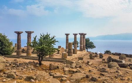 Assos, ruins of ancient city, Behramkale, Turkey