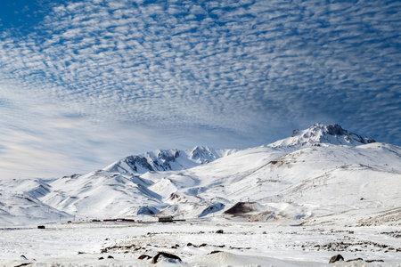 Travel concept photo. Turkey / Kayseri / Erciyes Mountain winter view.