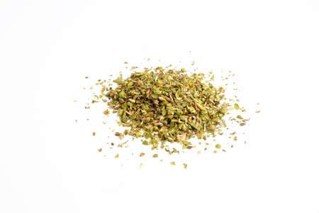 Dried thyme on a white background 免版税图像