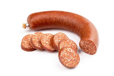 Turkish sausage on the white background