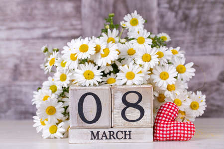 March 8th wooden calendar, World Woman's Day