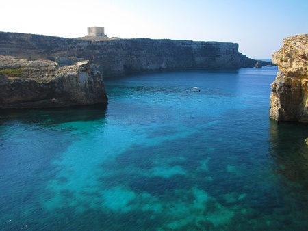 The Crystal Lagoon in Comino (Malta)