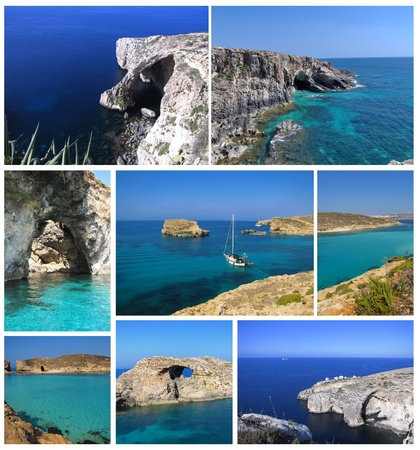 Maltese coast collage Stock Photo