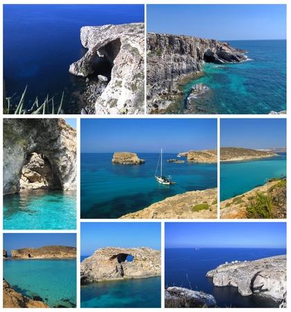 malta: Maltese coast collage Stock Photo