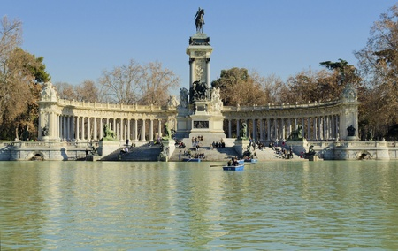 parque del buen retiro: Parque del buen retiro in Madrid - Spain
