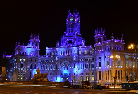 Plaza de Cibeles in Madrid - Spain Editorial