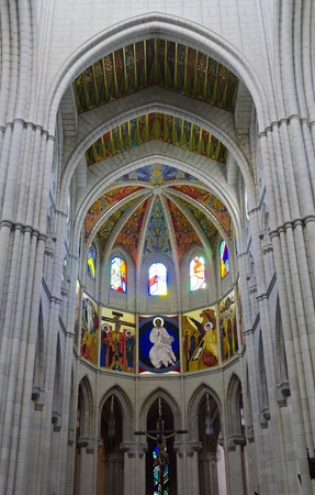 christanity: Interior of Madrid s Almudena Cathedral - Spain Editorial