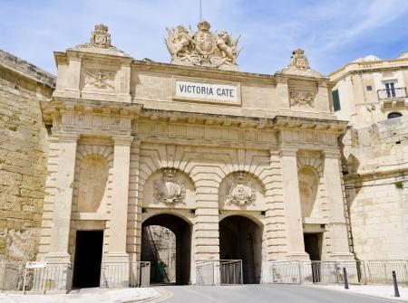 malta: Victoria Gate in Valletta - Malta Editorial
