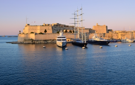 Sunset over the Grand Harbour - Malta