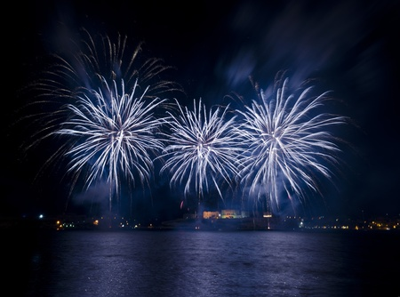 fire crackers: Fireworks over the Grand Harbour - Malta