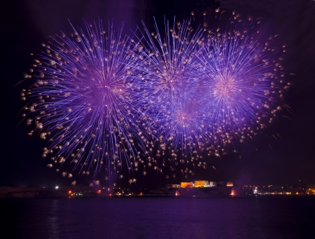 malta: Fireworks over the Grand Harbour - Malta
