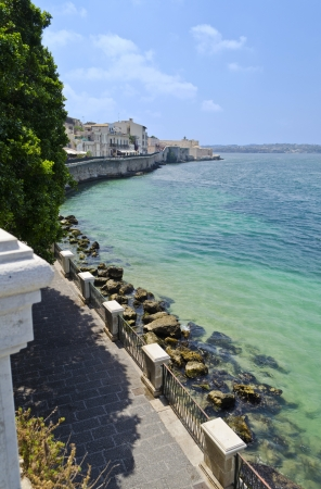 Siracusa coast from Ortigia in Sicily - Italy