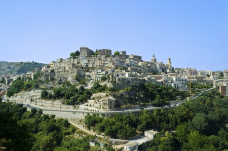 View of Ragusa Ibla in Sicily - Italy photo
