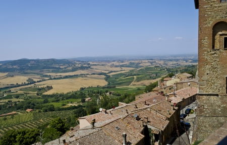View from Montepulciano - Italy Stock Photo - 17165260