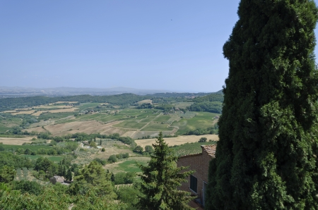 montepulciano: View from Montepulciano - Italy