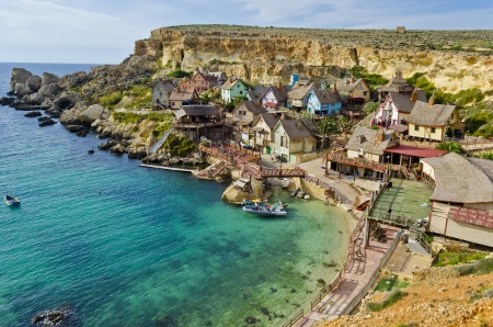 multi family house: Popeye Village - Malta Editorial