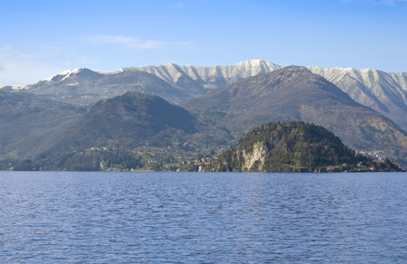 Mountain and Lake view from Varenna - Italy photo