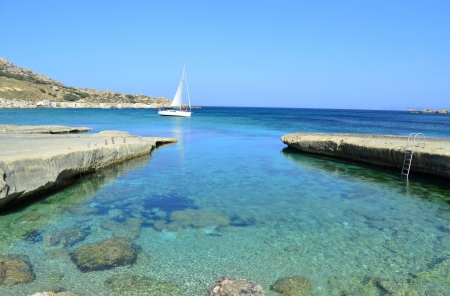 Beautiful coast in Gnejna - Malta photo
