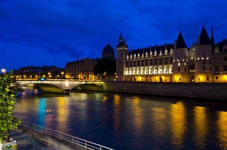La Conciergerie at night - Paris, France photo