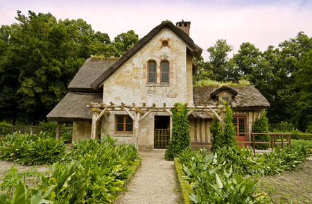 The Queen's hamlet in the Trianon  Versailles, France  報道画像