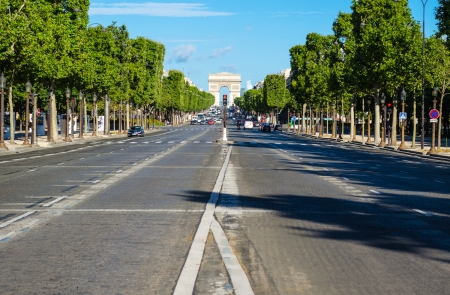 Champs Elyses in Paris  France