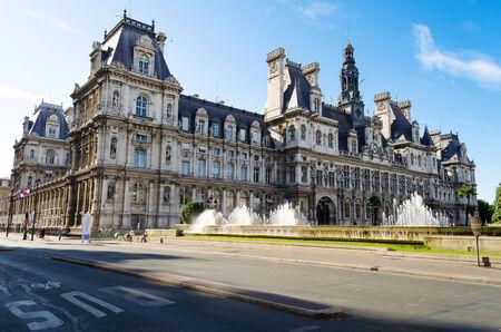 french renaissance: Hotel de Ville en Par�s, Francia Editorial
