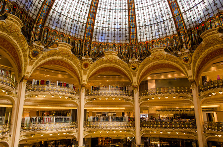 lafayette: inside the famous Galeries Lafayette - Paris, France Editorial