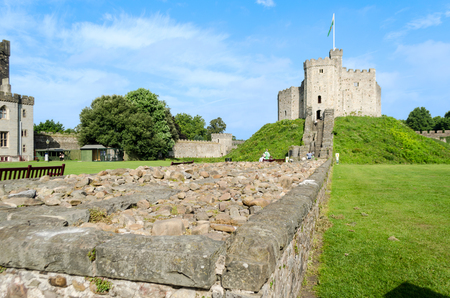 Exterior of Cardiff Castle � Wales, United Kingdom
