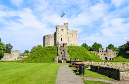 cardiff: Exterior of Cardiff Castle � Wales, United Kingdom