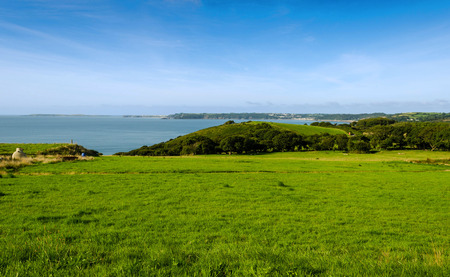 tenby wales: View over Tenby and Caldey Island - Wales, United Kingdom