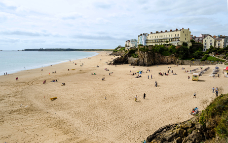 tenby wales: Tenby beach in Pembrokeshire � Wales, United Kingdom Editorial