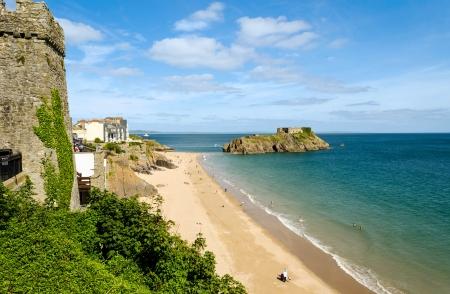 연합 왕국: St Catherine�s island in Tenby, Pembrokeshire � Wales, United Kingdom
