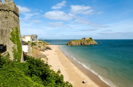 british weather: St Catherine's island in Tenby, Pembrokeshire – Wales, United Kingdom Stock Photo