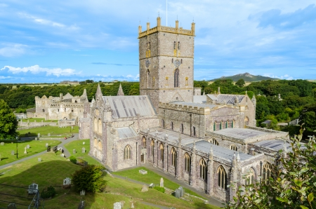 St Davids Cathedral in St Davids City Pembrokeshire – Wales, United Kingdom