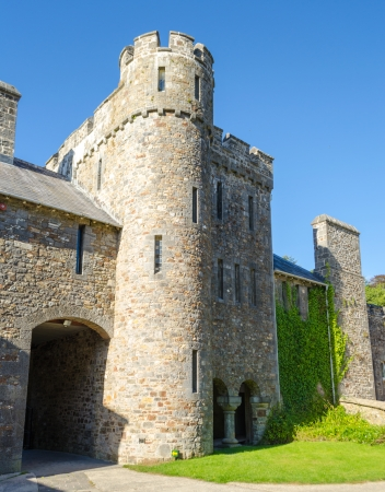 Picton Castle in Haverfordwest - Wales, United Kingdom Imagens