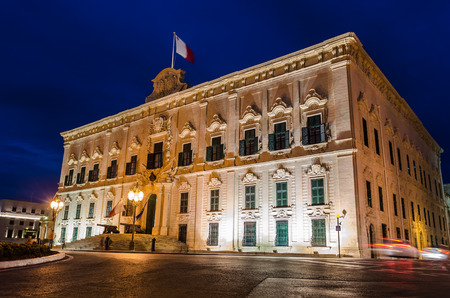 Auberge de Castille in Valletta Malta Stock Photo