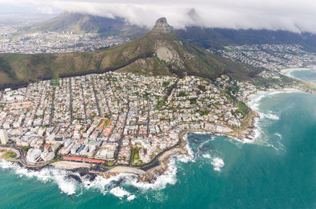 cape town: Aerial view of Cape Town  South Africa