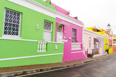 Colourful Houses in BoKaap  Cape Town South Africa
