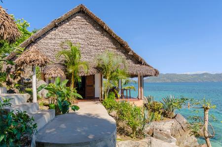 bungalow: Bungalow overlooking the ocean in Nosy Komba Madagascar