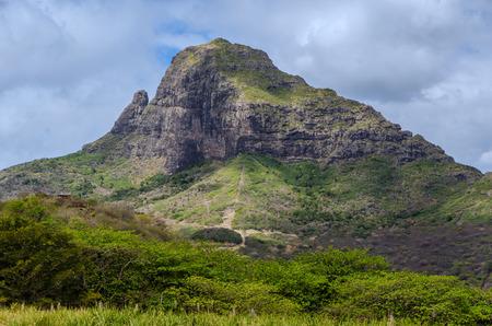 mauritius: Mountain landscape in Mauritius Stock Photo