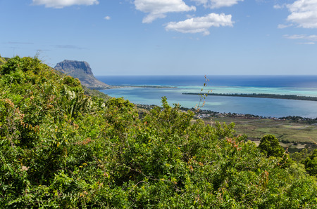 southern indian: View over the Indian Ocean in Southern Mauritius Stock Photo
