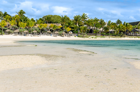 belle: Belle Mare Plage in Mauritius Stock Photo